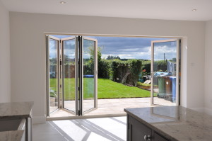bi folds from kitchen