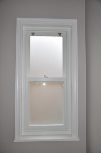 Frosted Glass Wooden Sash