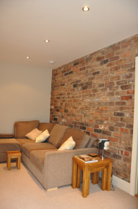 Garage Brick Feature Wall