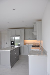 Grey shaker kitchen granite worktops