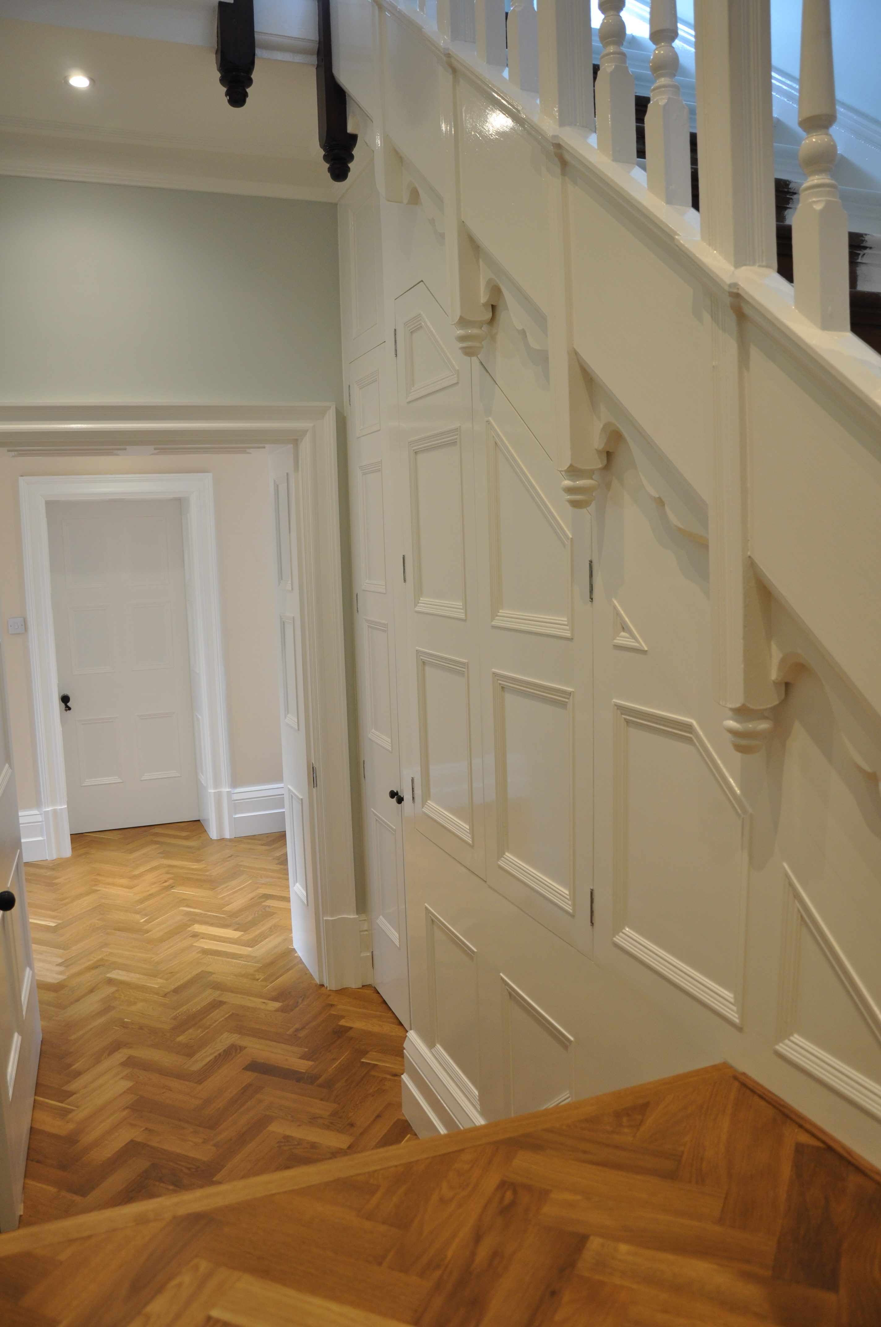 Bespoke panelling and parquet floor